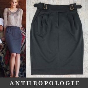 Anthropologie Maeve Double Belted Pencil Skirt 4